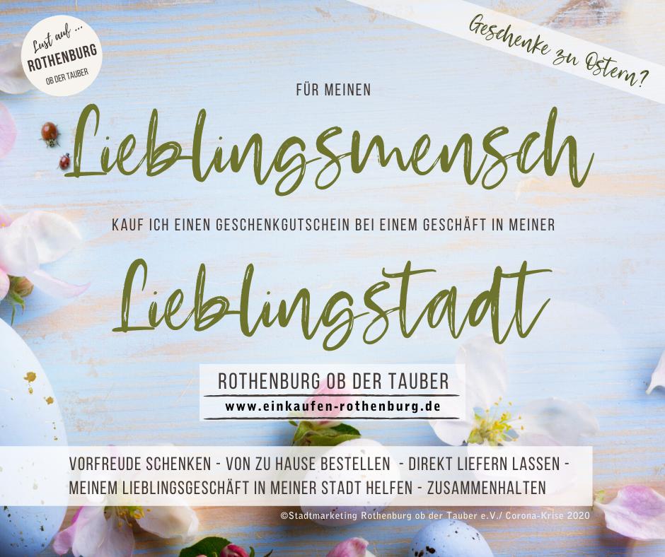 Geschenkgutscheine aus Rothenburg