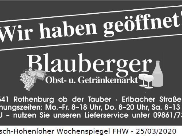Obst- und Getränkemarkt Blauberger