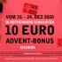 10 € Advent-Bonus geschenkt?