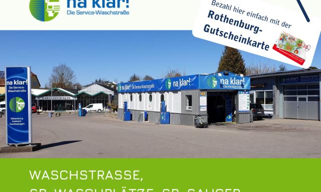 na klar! Die Service-Waschstraße